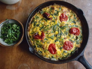 Duck egg frittata